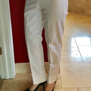 EUC Eric Casual White Cigarette Pants w/Split Cuff